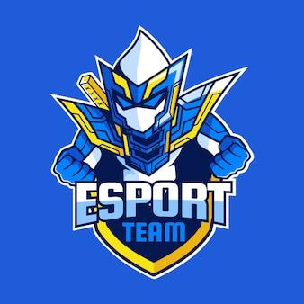 Design de logotipo de equipe guerreiro cavaleiro esport