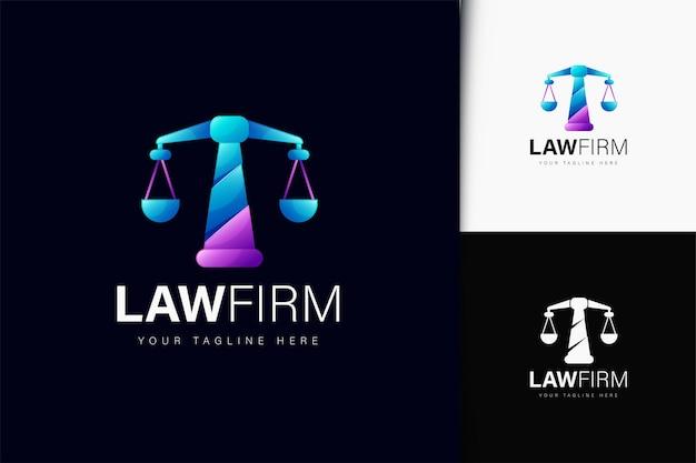 Design de logotipo de escritório de advocacia com gradiente