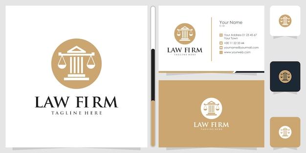 Design de logotipo de escritório de advocacia e cartão de visita.