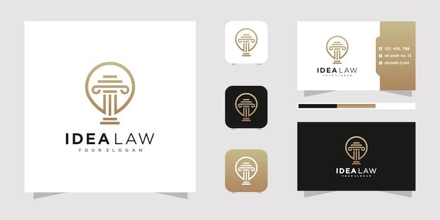 Design de logotipo de escritório de advocacia.