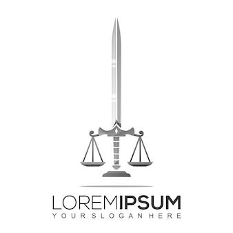 Design de logotipo de espada de advogado