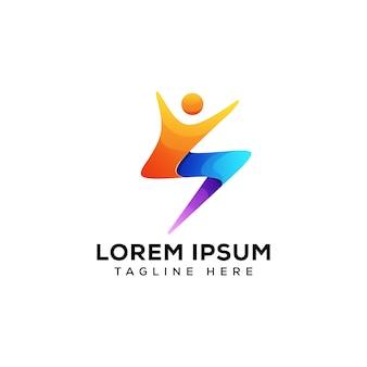 Design de logotipo de esporte de pessoas