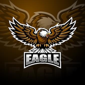 Design de logotipo de esporte mascote águia