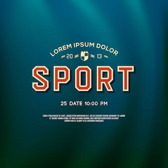Design de logotipo de esporte para equipe de faculdade e universidade, ilustração