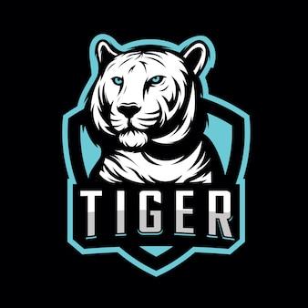 Design de logotipo de esporte tigre para esporte de jogos