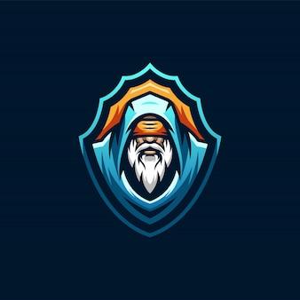 Design de logotipo de esports de mago