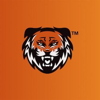 Design de logotipo de esports de tigre