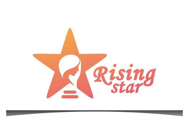 Design de logotipo de estrela em ascensão