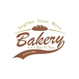Design de logotipo de etiqueta para padaria e confeitaria