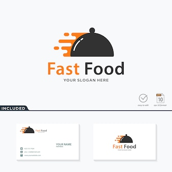 Design de logotipo de fast-food