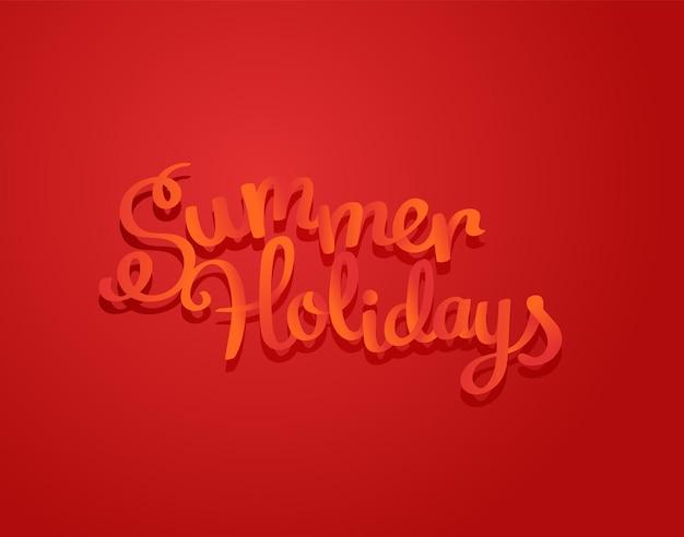 Design de logotipo de férias de verão. ilustração em vetor logotipo colorido
