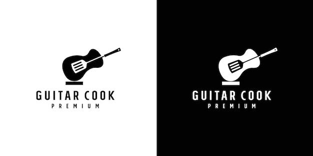 Design de logotipo de ferramentas de cozinha de música premium