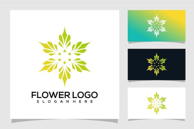 Design de logotipo de flor abstrata