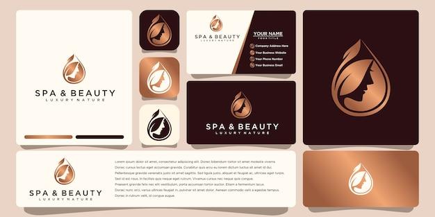 Design de logotipo de flor com estilo de linha de arte. os logotipos podem ser usados para boutique de decoração de salão de beleza de spa. e cartão de visita