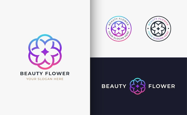 Design de logotipo de flor de beleza