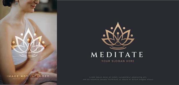 Design de logotipo de flor de lótus rosa para spa de beleza