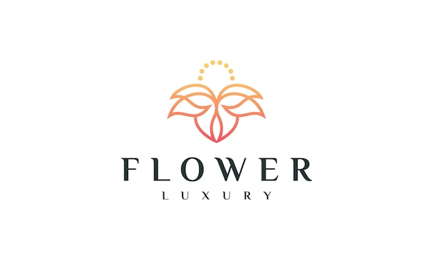 Design de logotipo de flor de luxo