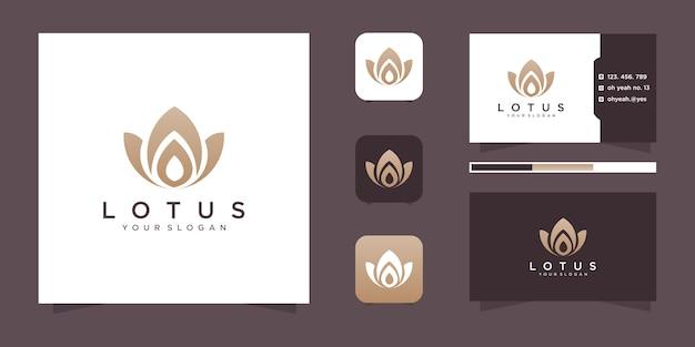 Design de logotipo de flor e cartão de visita.