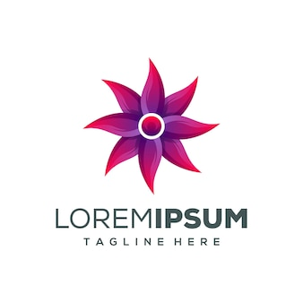 Design de logotipo de flor