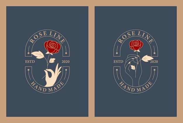 Design de logotipo de flores de luxo. cor dourada floral.