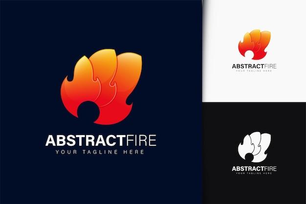 Design de logotipo de fogo abstrato com gradiente