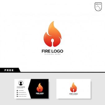 Design de logotipo de fogo