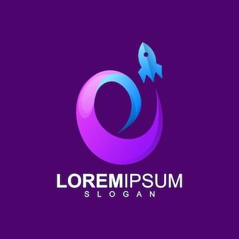 Design de logotipo de foguete premium