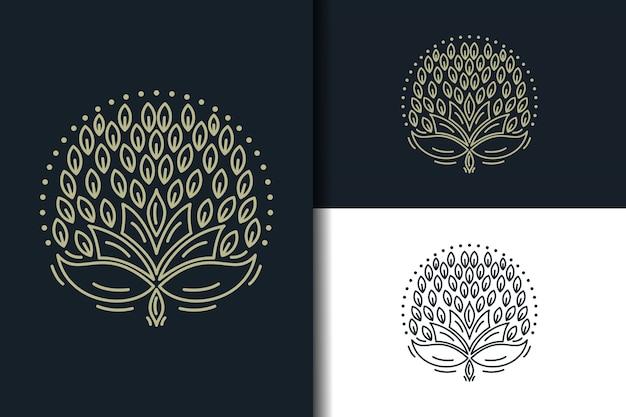 Design de logotipo de folha abstrata