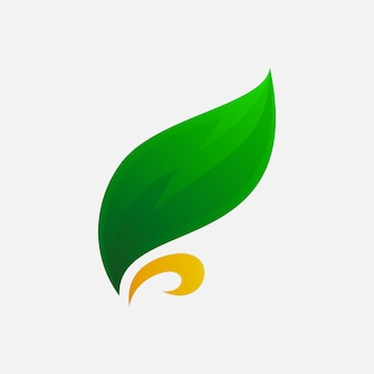Design de logotipo de folha artística para empresa de agricultura