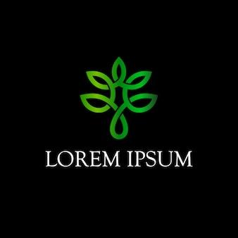 Design de logotipo de folha infinito