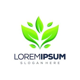 Design de logotipo de folha premium
