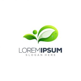 Design de logotipo de folha