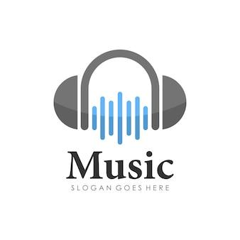 Design de logotipo de fone de ouvido