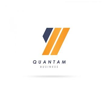 Design de logotipo de forma de q