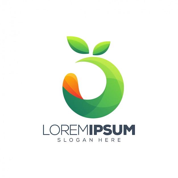 Design de logotipo de fruta colorida