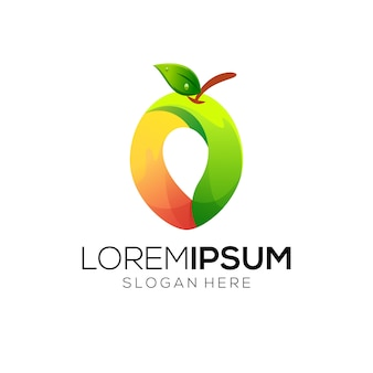 Design de logotipo de fruta impressionante
