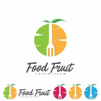 Design de logotipo de frutas criativas