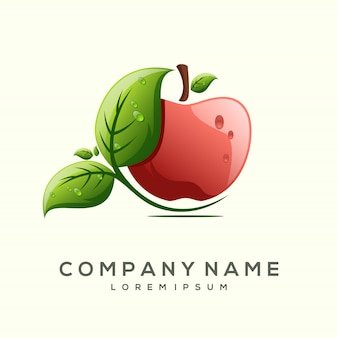 Design de logotipo de frutas premium