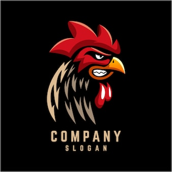 Design de logotipo de galo