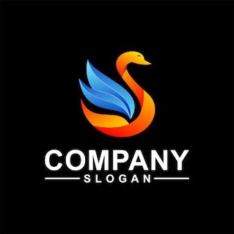 Design de logotipo de ganso