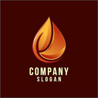 Design de logotipo de gás de petróleo