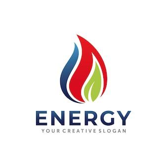 Design de logotipo de gás e óleo