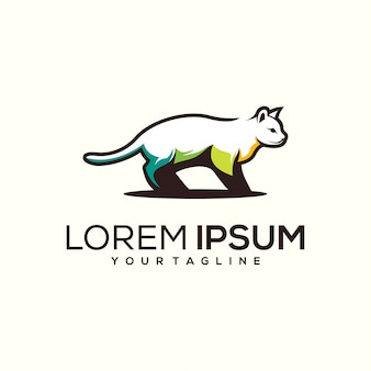 Design de logotipo de gato