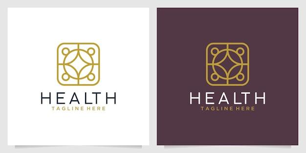 Design de logotipo de geometria de saúde