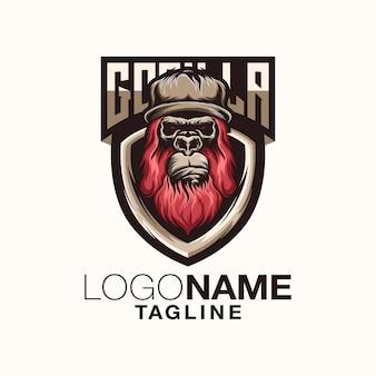 Design de logotipo de gorila