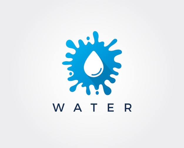 Design de logotipo de gota d'água