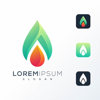 Design de logotipo de gota de água abstrata
