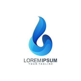 Design de logotipo de gota de água