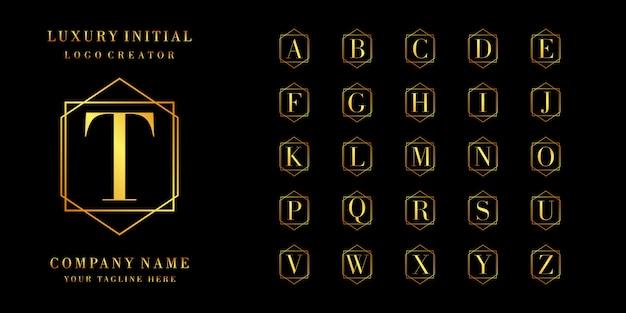 Design de logotipo de gradiente de cor de coleção inicial