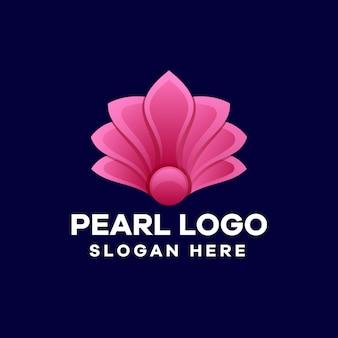 Design de logotipo de gradiente de pérola